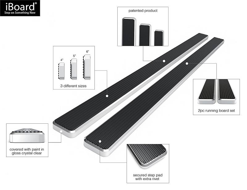 iboard running boards for f150,f250,f350,ram1500,ram2500,ram3500,GMC silverado,
